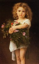 William-Adolphe Bouguereau - Child With Flowers